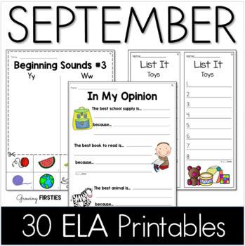 Common Core Crunch - September - ELA CCSS Printables - Gro