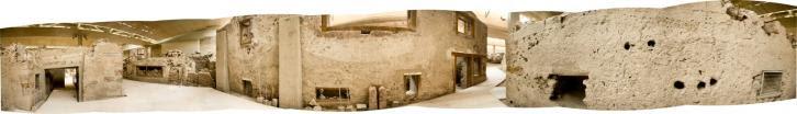 Akrotiri minoan site triangle square