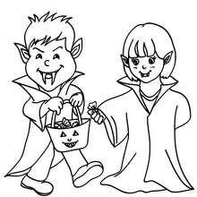 Dibujos Para Colorear Disfraces Vampiros Halloween Eshellokidscom