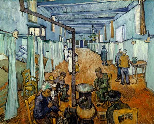 Vincent Van Gogh - Dormitory in the hospital in Arles