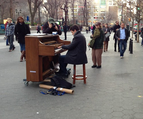 Union Square piano player