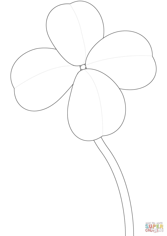 vierblättriges kleeblatt zum ausmalen