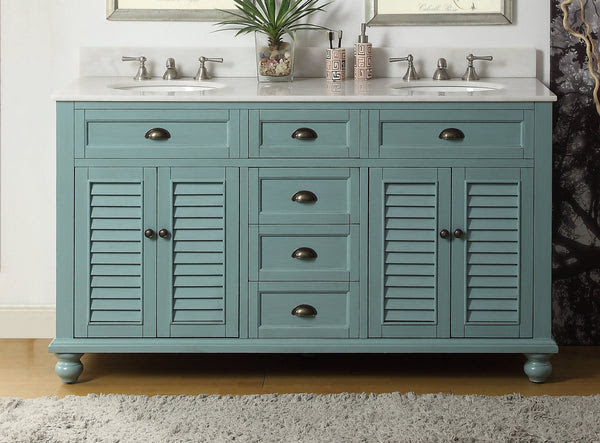 Cottage Look Glennville 60 Inch Vanity Gd 21333 Bentoncollections
