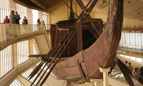 La barca hallada en 1954 tiene 43 metros de eslora. | F. Carrión.