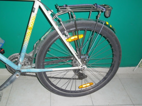 Recycled bike fenders