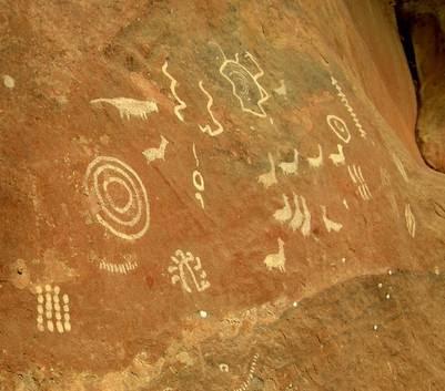 Pinturas rupestres de Cerro Colorado.