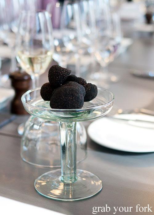 fresh truffles at dieci e mezzo canberra