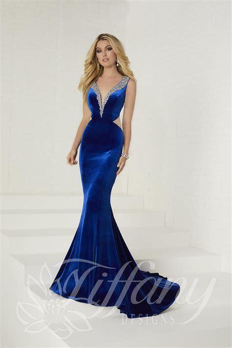 Tiffany Designs 16268 Velvet Prom Dress: French Novelty