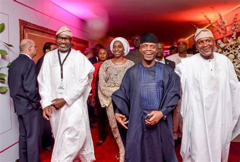 Osinbajo & Wife, Saraki, Otedola At Dangote's Daughter's