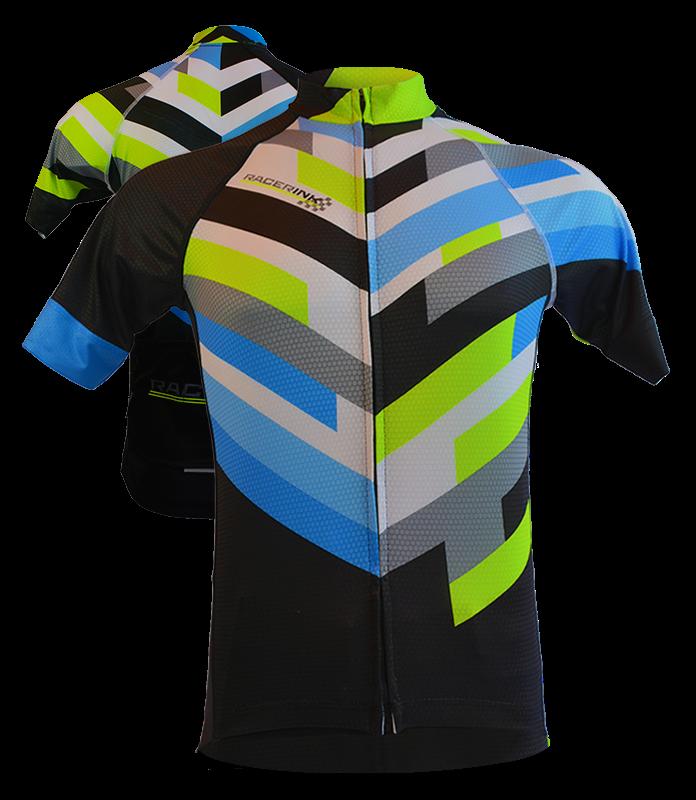 Custom Cycling Jerseys w\/ Moisturewicking Fabric  Racer Ink