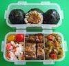 Meatball onigiri lunch