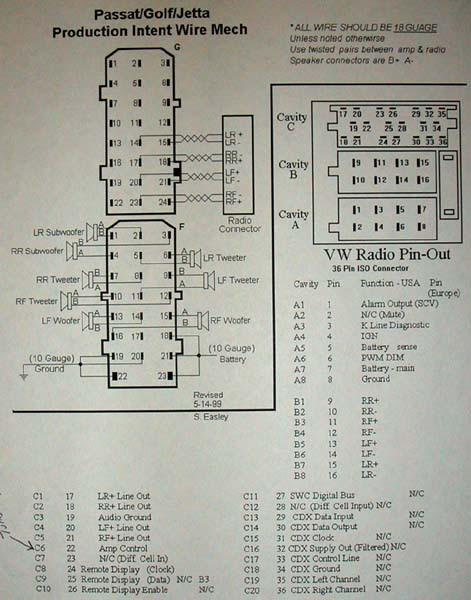 Wiring Diagram Database: Vw Monsoon Amp Wiring Diagram