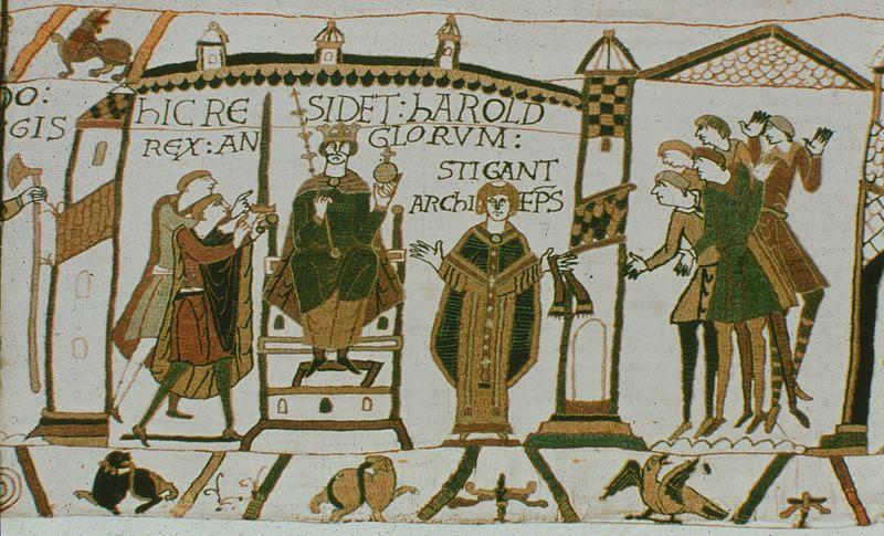 Archivo:. Bayeux Tapestry (Harold) jpg