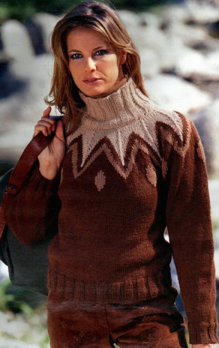 Свитер с круглой кокеткой 2. свитеры