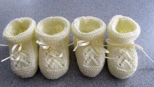 Two pairs of Baby Booties.