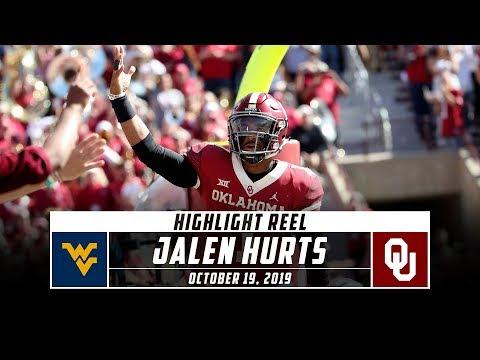 Jalen Hurts Highlights: West Virginia vs. No. 5 Oklahoma