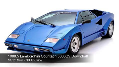1988.5 Lamborghini Countach 5000 QV Downdraft FOR SALE   YouTube