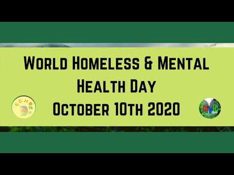World Homeless and Mental Health Day