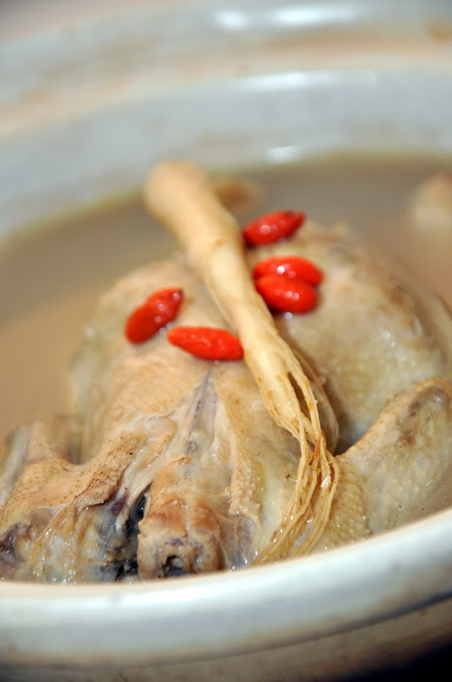 Di Mei Double Boiled Chicken Fresh Ginseng Soup with Spring Chicken Stuffed with Glutinous Rice