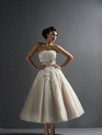 Justin Alexander, tea length wedding gown. For the