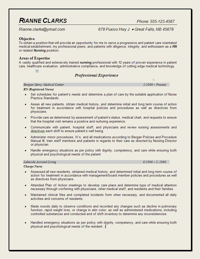 Professional Resume Examples Nursing Quotes. QuotesGram