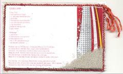 Vinyl Recipe card for Cola Cake: back