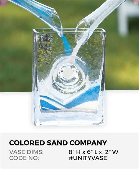 "Unity Sand Ceremony Clear Glass Eternity Vase (8""H x 6""L x"