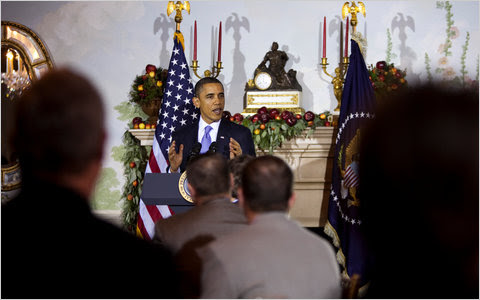 """""""I think it's time for all of us to make sure that we're working together,"""" President Obama said to the newly elected governors at the Blair House luncheon."""