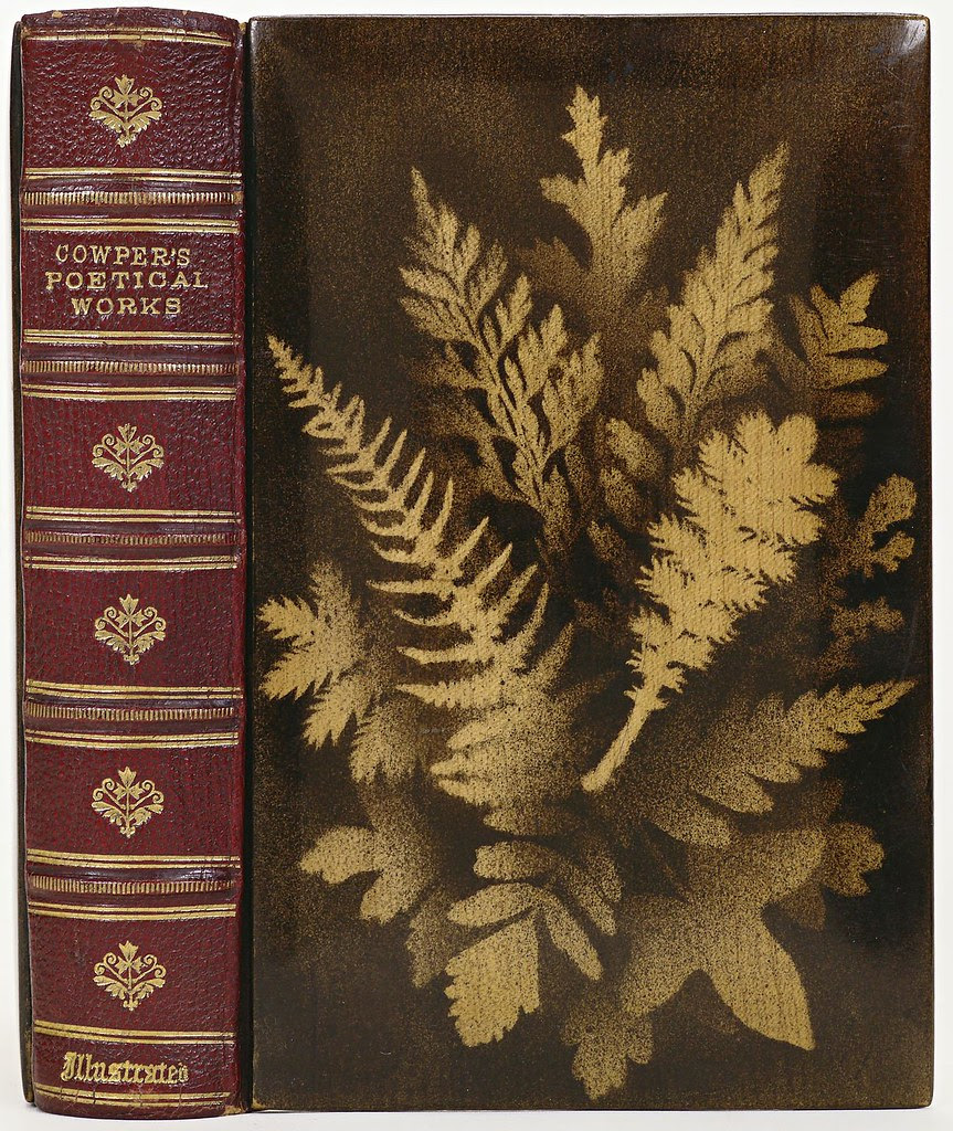 Goat skin and red maple wood (anon.) 'Cowper's Poetical Works' 1874