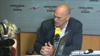 Raül Romeva, en l'entrevista a Catalunya Ràdio