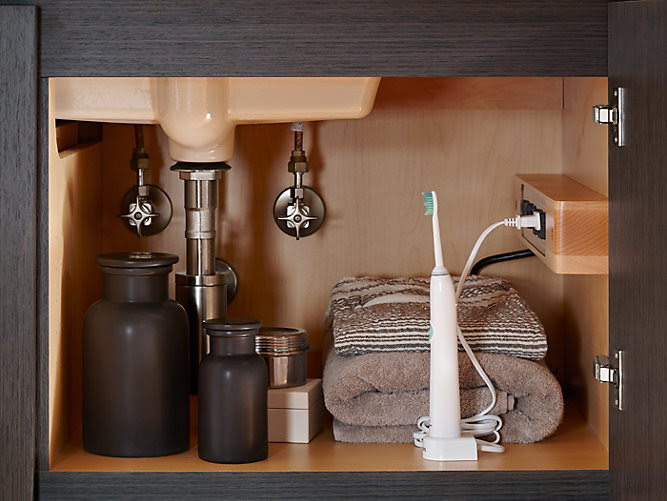 Side Mount Electrical  Outlets for Tailored Vanity K