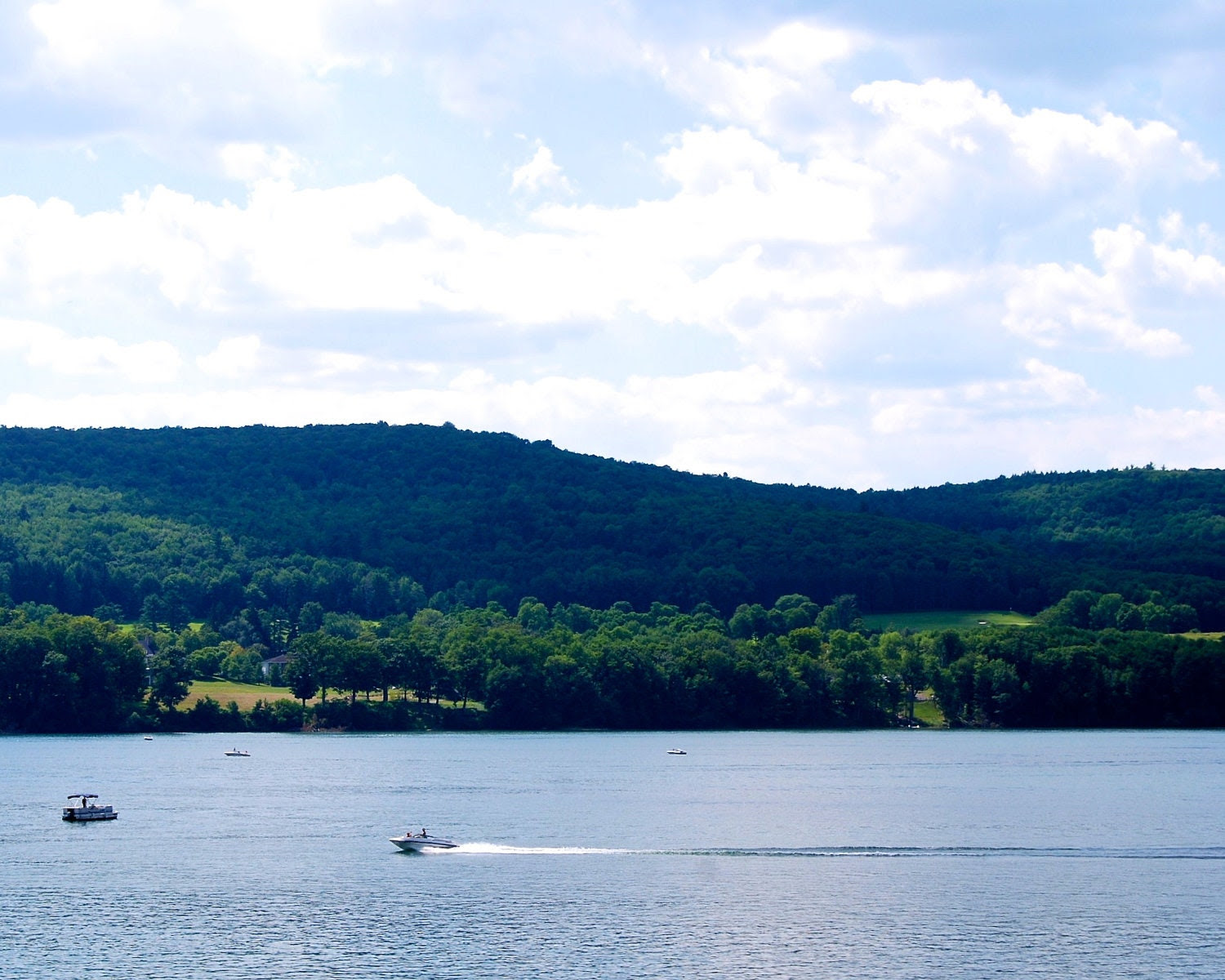 Nature Photography -Relaxing Blue Waters in New York State - Nautical, Summer, Lake, Travel Photography - PetitePastiche