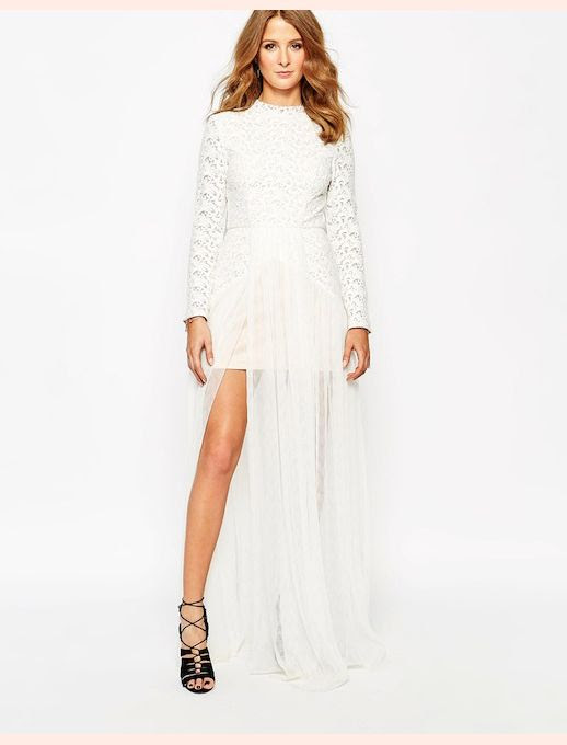45 Wedding Dresses Under 500 Millie Mackintosh Maxi Dress with Lace and Tulle Skirt Budget Affordable Inexpensive photo 45-Wedding-Dresses-Under-500-Millie-Mackintosh-Maxi-Dress-with-Lace-and-Tulle-Skirt-Budget-Affordable.jpg