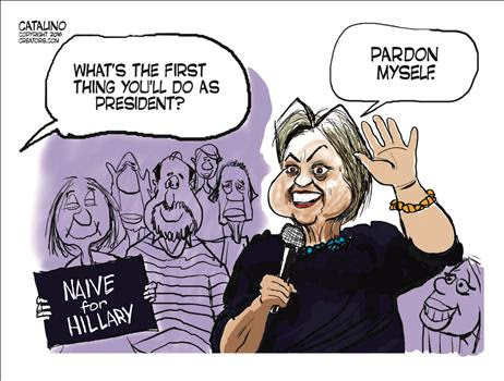 Image result for hillary's pardon cartoons