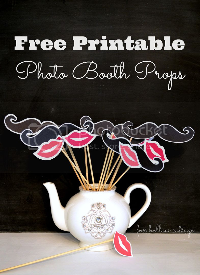 Free Lip And Mustache Printables Photo Booth Props Fox Hollow Cottage