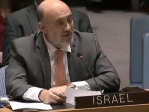 L'ambasciatore d'Israele all'Onu Ron  Prosor, autore di questo intervento