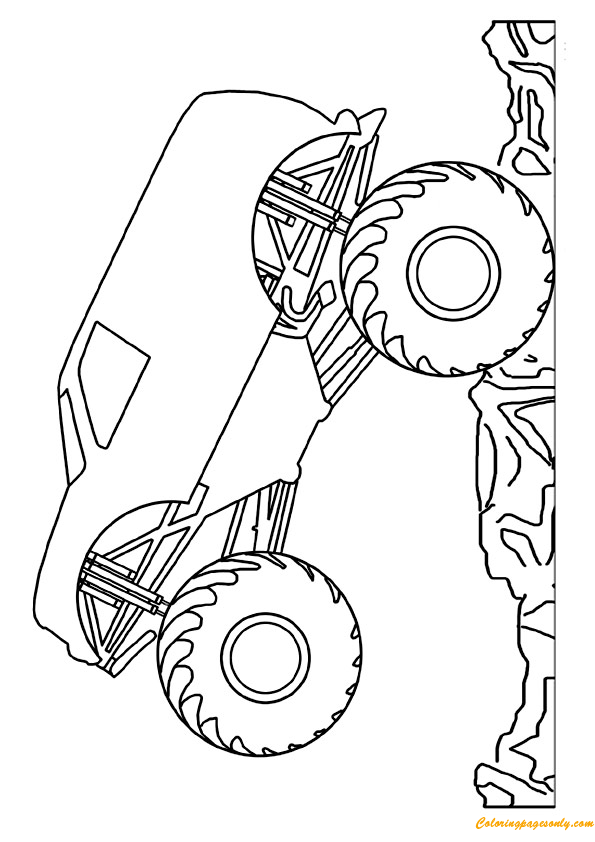 Mini Monster Truck Coloring Page - Free Coloring Pages Online