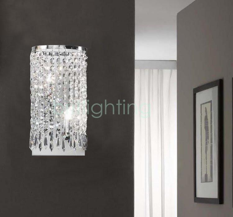 Gold K9 Crystal Wall Light modern Wall Sconce Wall Decor E14 Bulbs ...