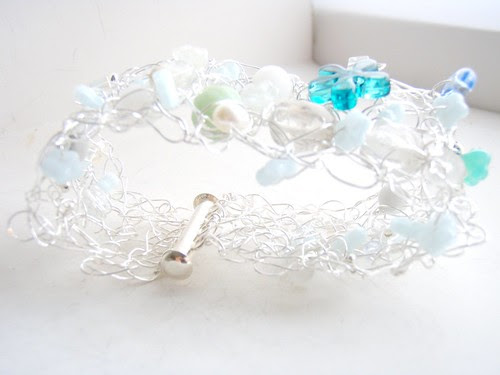 custom cuff project: forget-me-not blues