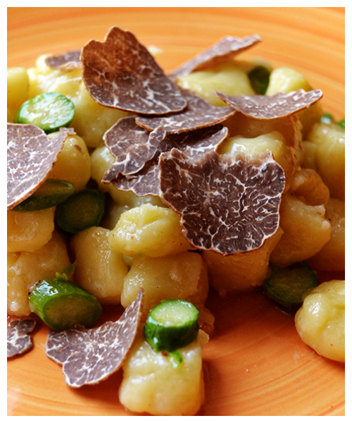 gnocchi with asparagus and white truffle© by Haalo