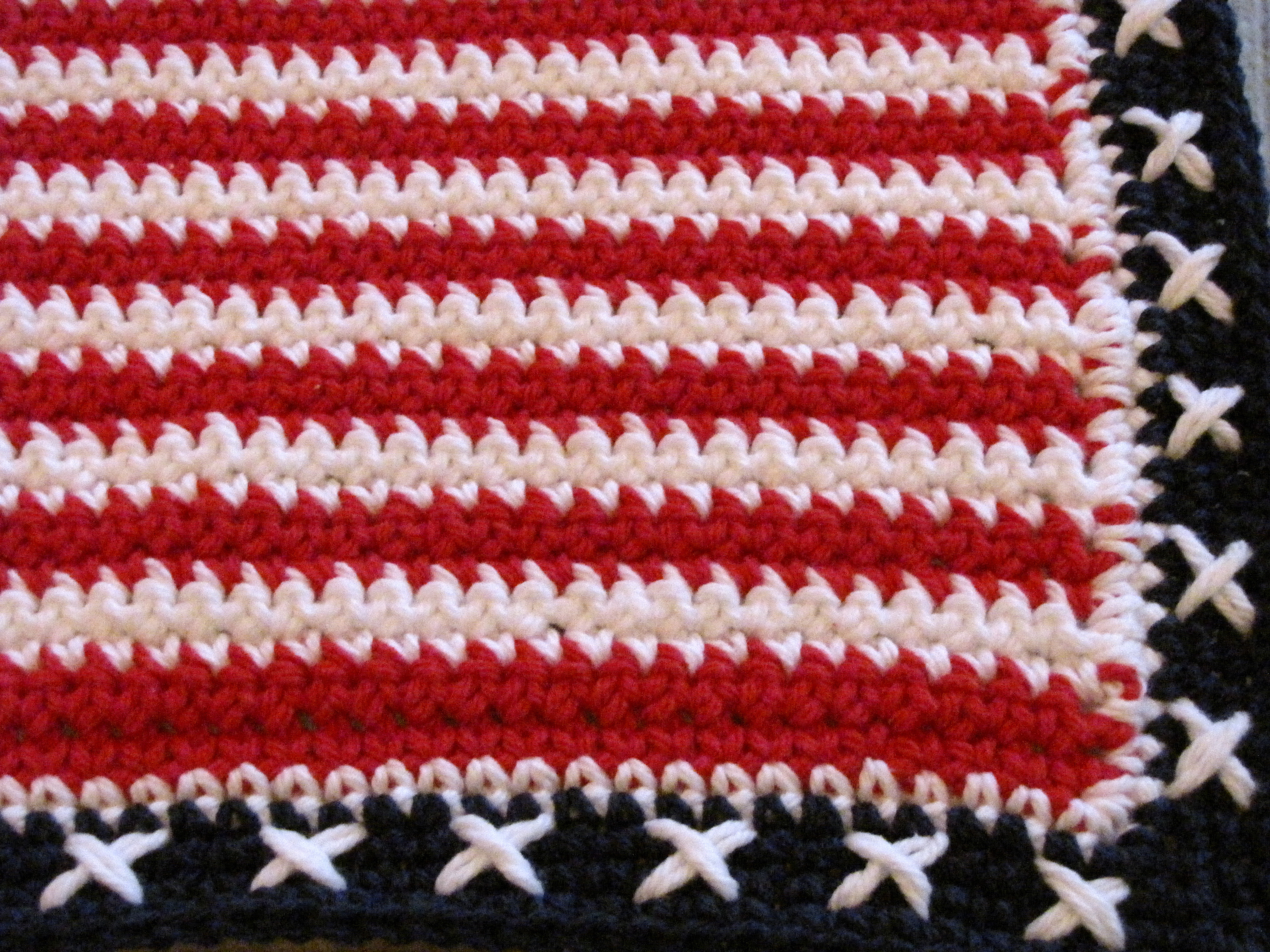 Red White and Blue Crochet Place Mat