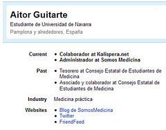 LinkedIn profile Aitor Guitarte