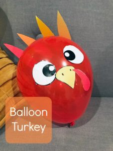 Get the free printable for these easy-to-make balloon turkeys.