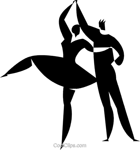 社交ダンス ロイヤリティ無料ベクタークリップアートイラスト Vc027774