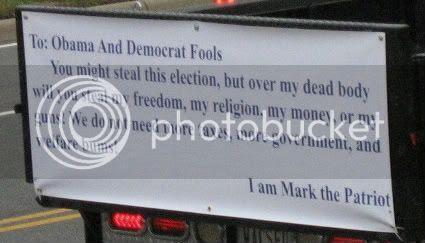 Obama Truck Sign Notice