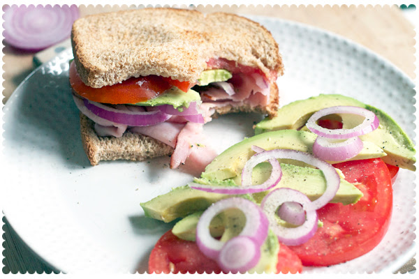 Ham and Veggie Sandwich