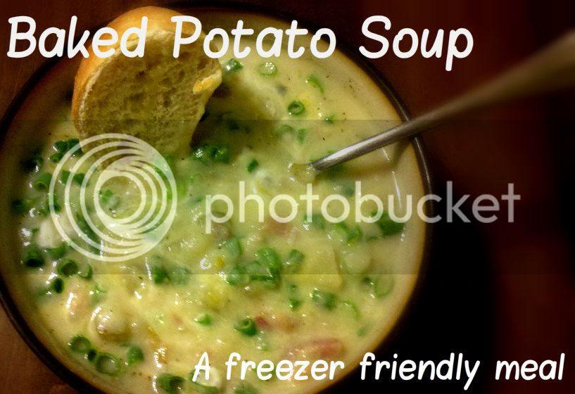 cheap baked potato soup freezer meal