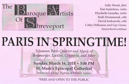 Baroque Artists of Shreveport, 3.16.14 by trudeau