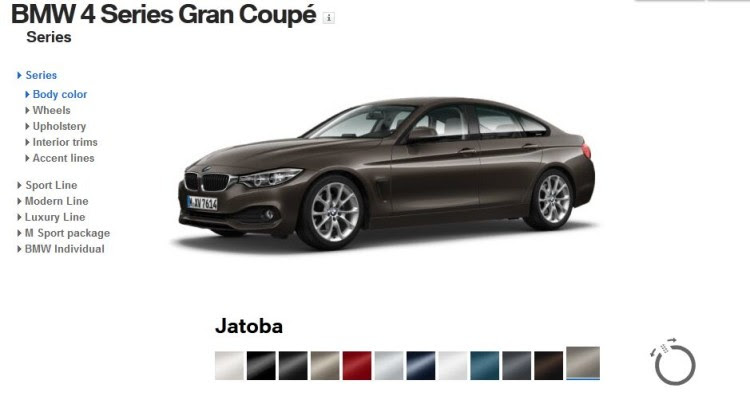 BMW 4 Series Gran Coupe   List of all colors, and BMW Individual paints