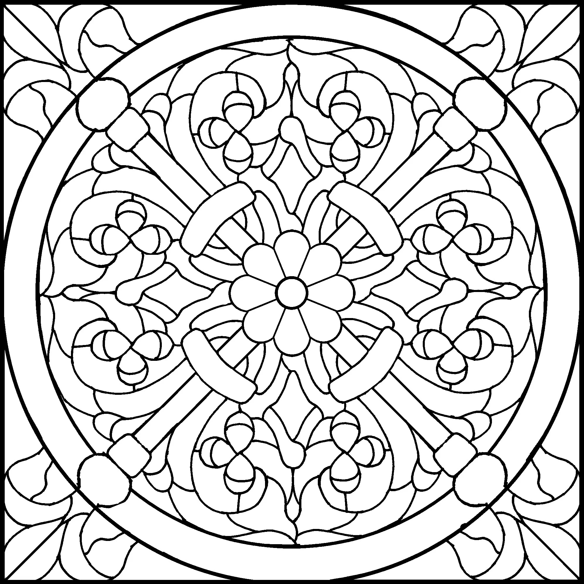 45 Simple Stained Glass Patterns | Guide Patterns